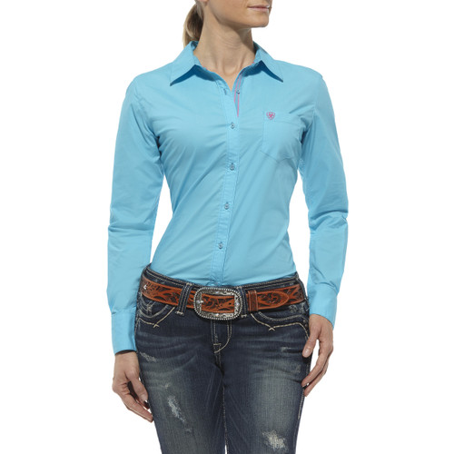 Women's Ariat L/S, Kirby, Endless Turquoise