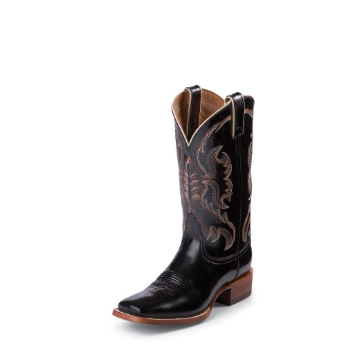 "Women's Nocona Boot, Black Calf, 11"", Square Toe"