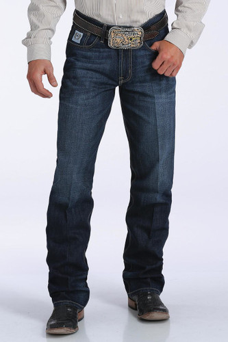 Men's Cinch Jeans, White Label, Dark Stone, Relaxed Mid Rise Straight Leg