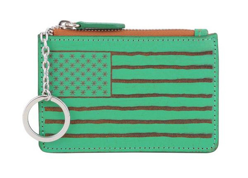 Most Wanted USA Keychain, American Flag Card Holder