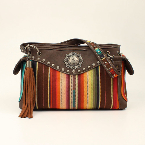 Women's Blazin Roxx Purse, Serape with Brown Leather