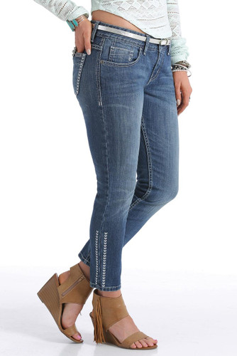 Women's Cruel Girl Jeans, Abby Skinny Crop