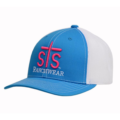 Men's STS Cap, Teal and White, Trucker Style