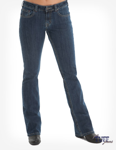 Women's Cowgirl Tuff Jean, Just Tuff, Medium Wash