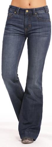 Women's Rock & Roll Jean, Trouser Fit, High Rise, Plain Pocket