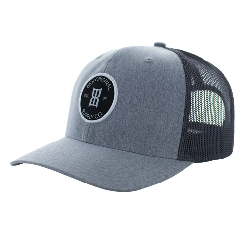 Men's Bex Cap, Gray with Gray Trucker Mesh
