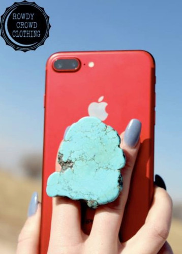 Rowdy Crowd Phone Grip, Turquoise Slab