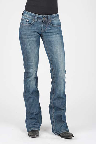 Women's Stetson Jean, Bootcut, Dark Wash, Decorative Stitching