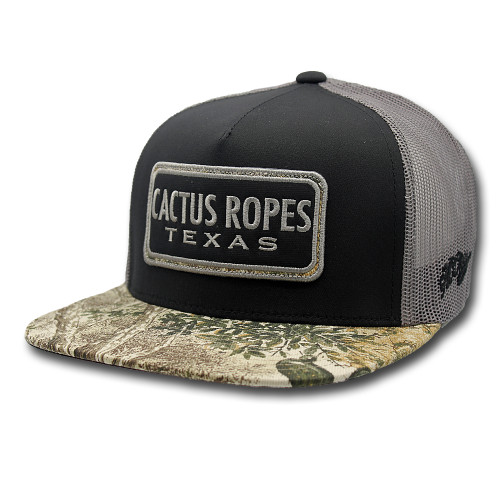 Men's Hooey Cap, Cactus Ropes, Black and Gray, Game Guard Patch