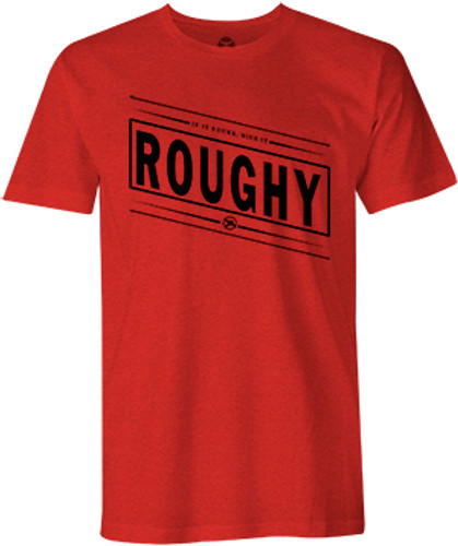 "Men's Hooey Tee, ""Bucker"" Heather Red, Black Roughy Logo"