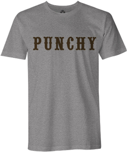 "Men's Hooey Tee, ""Punchy"" Heather Gray with Orange Logo"