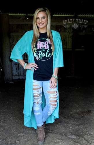 Women's Crazy Train Duster, Twisted Turquoise