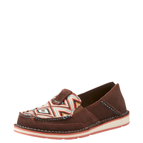 Women's Ariat Cruiser, Dark Brown, Aztec Print