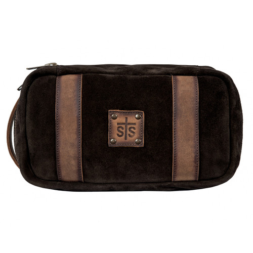 STS Shave Kit, Heritage, Brown Suede with Leather