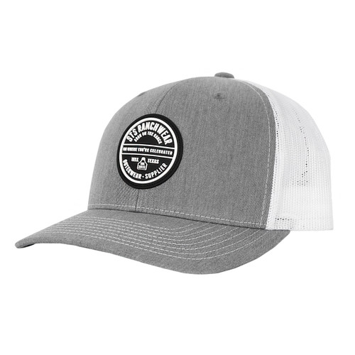 Men's STS Cap, Gray with White Mesh, Black Patch