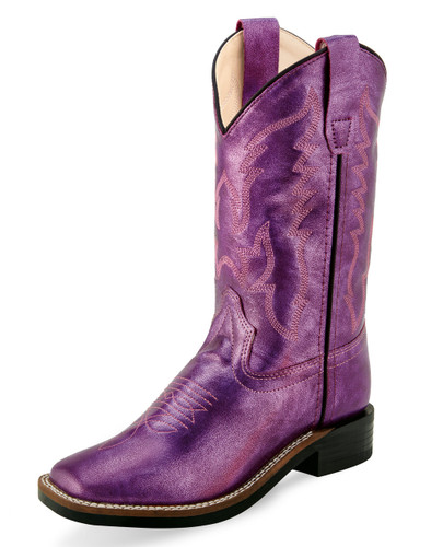 Kids Old West Boots, Purple