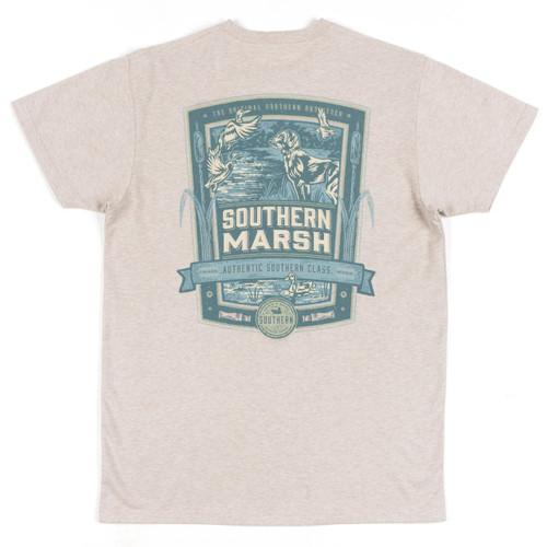 Men's Southern Marsh Tee, Duck Hunting, Oatmeal