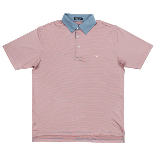 Men's Southern Marsh Polo, Hawthorne, Peach and Blue