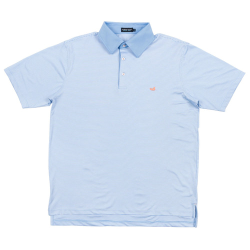 Men's Southern Marsh Polo, Hawthorne, Light Blue and White