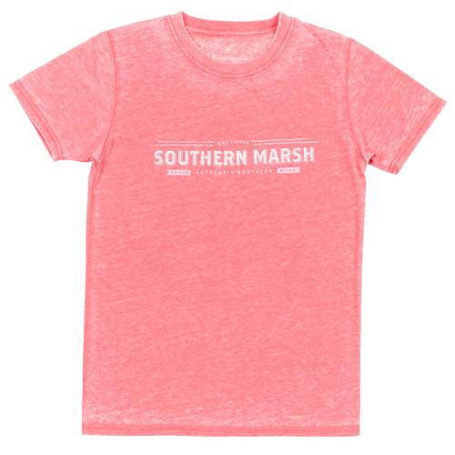 Women's Southern Marsh Tee, Rustic Trademark, Strawberry