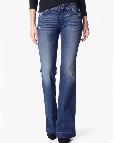 Women's 7FAMK Jean, Dojo, Lake Blue
