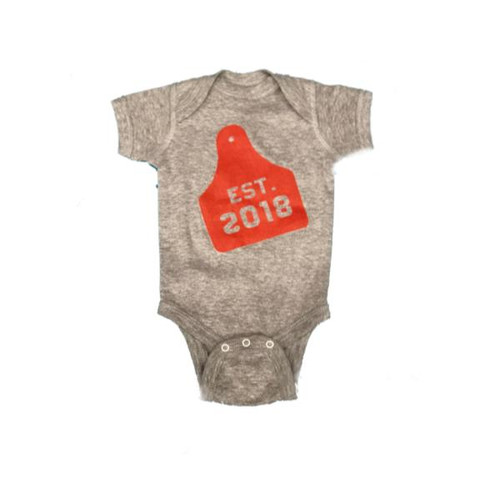 Infant Whole Herd Onesie, 2018 Ear Tag