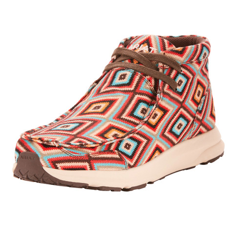 Women's Ariat Shoe, Spitfire, Red, Blue and Orange Aztec