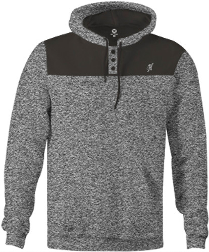 "Men's Hooey Hoodie, ""Jimmy"" Heather Gray"