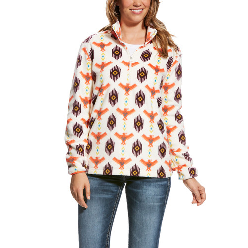 Women's Ariat Pullover. Thunderbird and Aztec Print