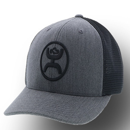 "Men's Hooey Cap, ""O Classic"" Gray with Black Mesh"