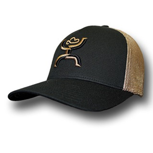 "Men's Hooey Cap, ""Coach"" Black and Khaki, Flex Fit"