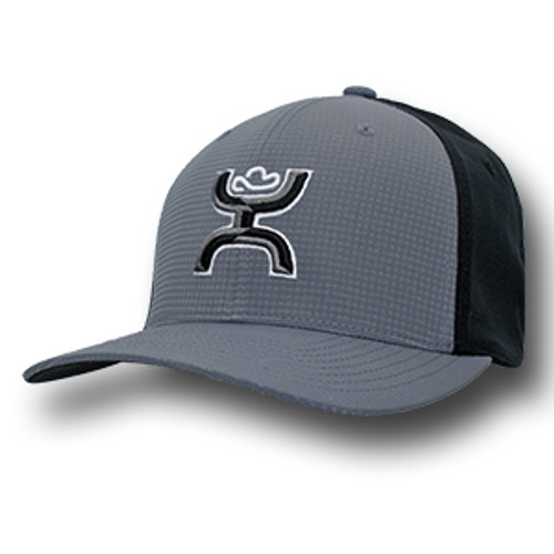 "Men's Hooey Cap, ""Chi Flex"" Gray and Black, Flex fit"
