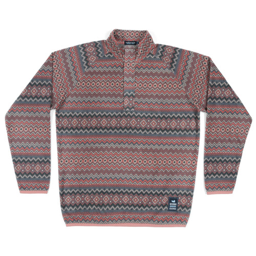 Men's Southern Marsh Pullover, Red Aztec