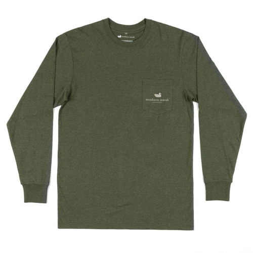 Men's Southern Marsh L/S, Vistas Bass, Dark Green