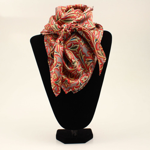 M&F Wild Rag, Western Floral, Red and Cream