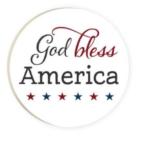 PGD Car Coaster Singles, God Bless America