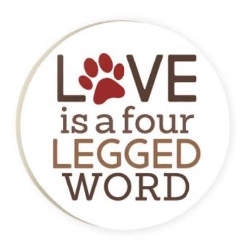 PGD Car Coaster Singles, Love is a Four Legged Word