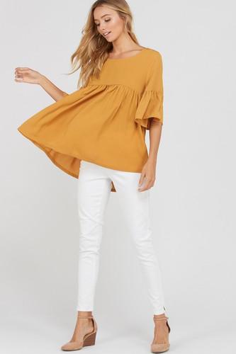 Women's Wishlist Top, Bell Sleeve, Babydoll Style