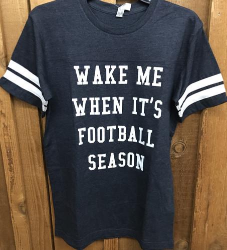 "Women's Ruby's Rubbish Tee, ""Wake Me When It's Football Season"""