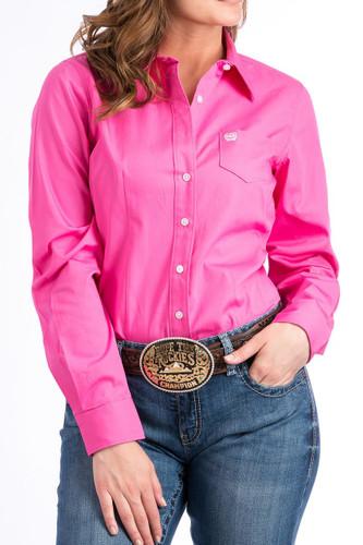Women's Cinch L/S, Solid Pink