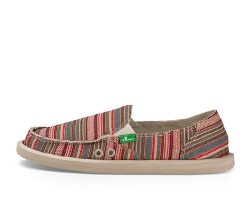Women's Sanuk Slip On, Donna Sonoma, Multicolor Stripe