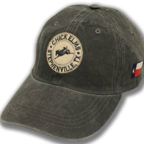 Men's Ouray Cap, Charcoal, Chick Elms Circular Logo