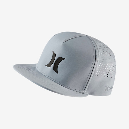 Men's Hurley Cap, Phantom Snapback, Light Gray and Black