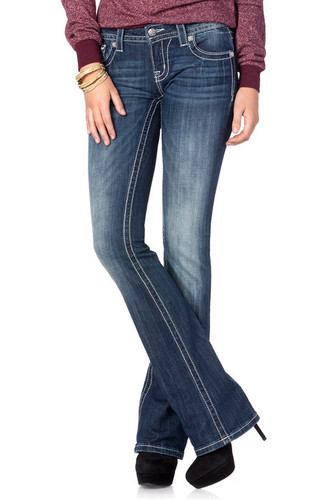 Women's Miss Me Jean, Embellished Flap Pocket