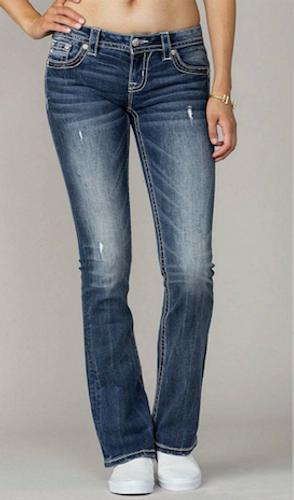 Women's Miss Me Jeans, Zig Zag Pocket, Bootcut