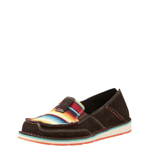 Women's Ariat Cruiser, Dark Brown and Red Serape