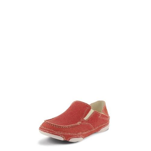 Women's Tony Lama Shoe, Lipstick Pink, Canvas