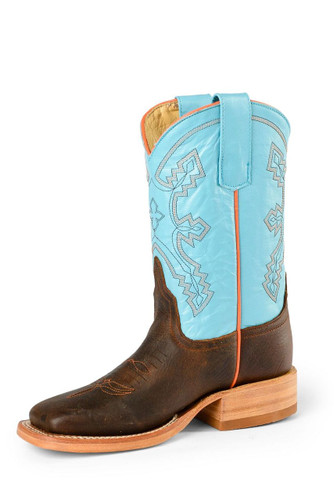 Kids Anderson Bean Boot, Brown with Light Blue Shaft