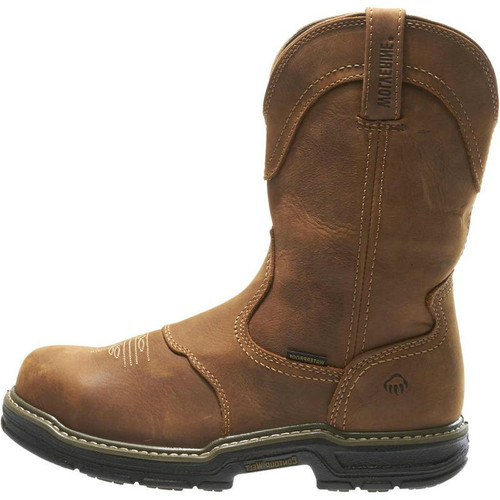 Men's Wolverine Boots, Steel Toe, Brown, Round Toe