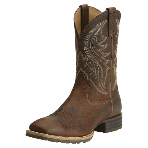 Men's Ariat Boot, Brown Vamp, Short Brown Shaft
